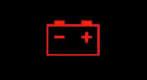 Charging system warning light