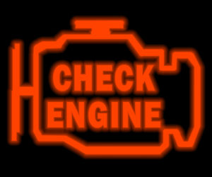 Check engine light indicator gauge